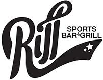 Riff Sports Bar & Grill logo concept