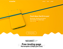 vcreative - Free landing page