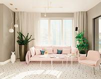 River Stone 2-комнатная квартира для девушки