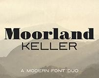Moorland Keller - a modern font duo