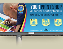 Print Shop Billboard Template