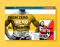 Redesign Landingpage | Homemade Muscle
