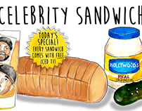 Celebrity Sandwiches for The Bold Italic