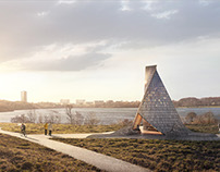Top of the hill / Mosvannsparken by Helen & Hard