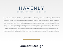 'Havenly' - Order/Tracking Page Redesign