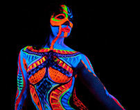 UV Bodypainting Dublin : 23JUN Intuitive UV Bodypaintin