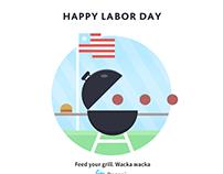 Labor Day Card (social media art)