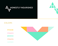 Honestly Nourished Logo + Identity + Styleguide