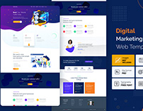Digital marketing website template
