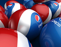 Pepsi Rubber Ball/Bottle