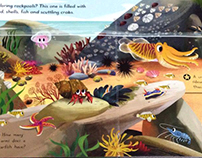 Sea Creatures book (process GIF)