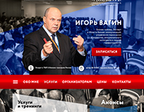 Design concept website for business coach