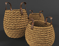 Download Free 3D Models Rope Basket