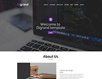 Digrand - One Page Portfolio Template And Blog