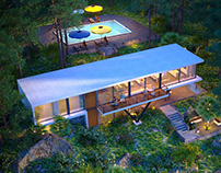 Spa in the forest by K-Render Studio