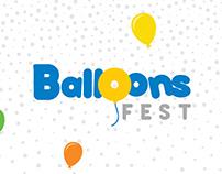 Identidade visual Balloons Fest