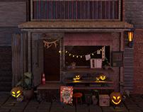 Halloween 3D environment