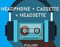 Headphone + Cassette = Headsette