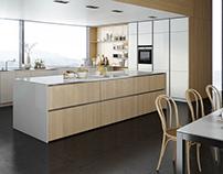 Kitchen // White & Wood