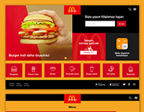 Mcdonalds web redesign concept