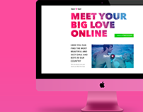 Сoncept of Landing page for Dating Site