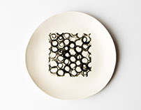 Rachel Grenon - Large Hand Painted Ceramic Plates