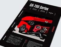 Advertising / G-SHOCK GA-700, GA-500 Series