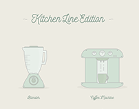 Kitchen Line Vector Set