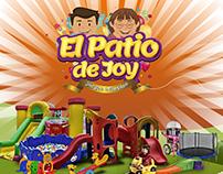 El patio de Joy juegos inflables, imagen e identidad
