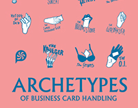 Archetypes of Business Card Handling