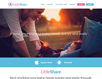 Little Share ( Product ) One Page Website Design