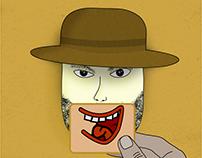 2D Laughing Man Illustration