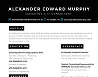 Alexander Murphy's Résumé