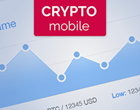 Bitcoin / Cryptocurrency Exchange Mobile App Concept