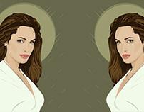 Vector portrait Jolie