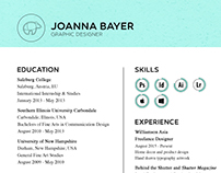 Resume // Joanna Lee Bayer