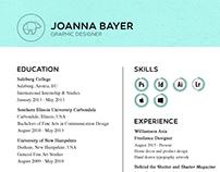 Resume // Joanna Lee Bayer