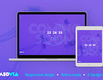 Medusa – Flat & Minimal Coming Soon Template