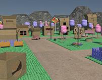Modelagem 3D - Vila dos Gatocórnios