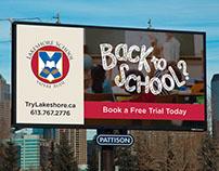 Lakeshore School - MicroSite & Back To School Campaign.