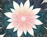 Grunge Decorative Mandala on marble