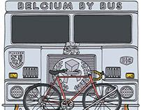 Belgium By Bus Screen Print