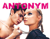 Design graphique et mise en page d' Antonym Magazine