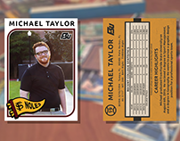 Baseball Card Grad Announcement