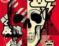 Hydro74XPixelmallows Collab: 2 Skulls
