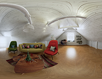 3D Interior project - 3' Attic 360 panoram