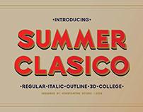 SUMMER CLASICO - Vintage Font