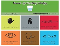 6 Sunnah of Drinking Water [Infographic]