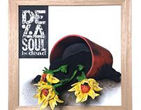 "DE LA SOUL IS DEAD ""2.5D"" -VINYL COVER WALL ART-"