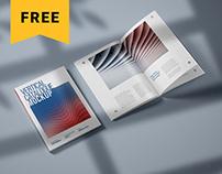 Free Vertical Catalog and Magazine Mockup